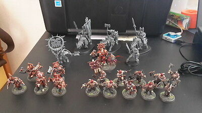Warhammer Age of Sigmar Khorne Bloodbound Warband Pro painted (part)