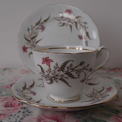 Royal Standard Trio - Cup, Saucer & Side Plate - Pattern 'Fancy Free'