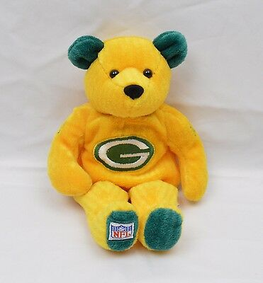 NFL Green Bay Packers Bean Bag Plush Bear 9 1/2 inches AF03 J-T-P