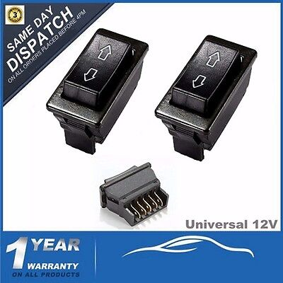 2Pcs Universal Auto CAR POWER ELECTRIC WINDOW / AERIAL SWITCH UP DOWN ROCKER 12V