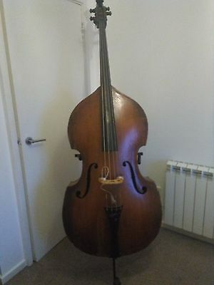 Double Bass and soft case  3/4 size, German circa 1870