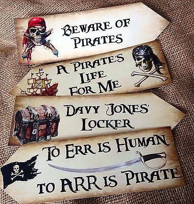 Set of 4 Pirate Large Party Decoration Arrows