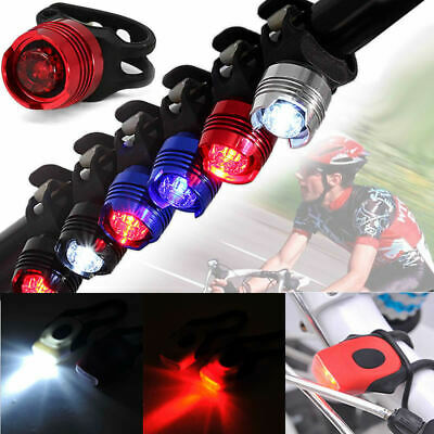 Bike Bicycle Safety Warning Head Front Tail Rear Flash Light Silicone Band Cycle