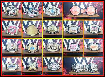 BUY 4 GET 2 FREE! CUSTOM WWE Figure Belts For Standard Wrestling Figures