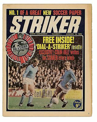Striker No.1 Jan 1970 With Free Gift
