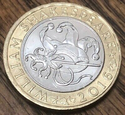 2016 William Shakespeare £2 Two Pound Coin Comedies Jester