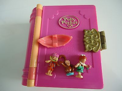 "Polly Pocket Vintage : ""glitter Island "" 3 Figurines + 1 Accessoire / Annee 1995"