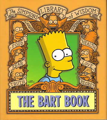 THE SIMPSONS LIBRARY OF WISDOM THE BART BOOK - HARDBACK in DW 2004 - EXCELLENT