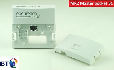 GENUINE BT Openreach MK2 FILTER NTE5c MASTER FACEPLATE SOCKET VDSL/ADSL BACK BOX