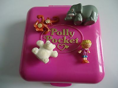 "Polly Pocket Vintage : ""world Zoo World "" + 4 Figurines / 1989 / Bluebird"