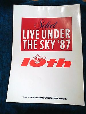 Select Live Under The Sky'87 Limited Edition Japan Program book