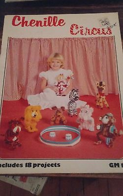 Vtg Chenille Circus Donna Childers toy animals clowns craft 18 projects