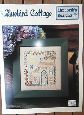 Vtg Elizabeth's Design counted cross stitch chart Merry Christmas
