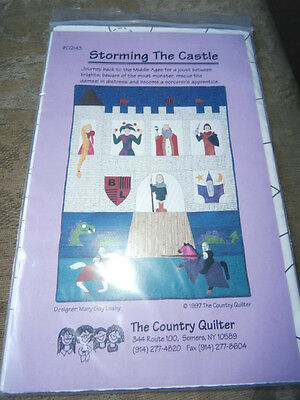 Vintage The Country Quilter Storming The castle joust knights quilt pattern NEW