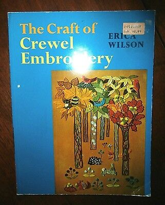 Vtg The Craft of Crewel Embroidery by Erica Wilson 96 pages