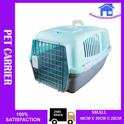 Small Pet Carrier Carry Basket For Dog Puppy Cat Kitten Rabbit Travel Cage Crate