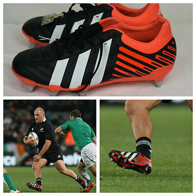 NEW Adidas Kakari Adipower wide fit bnwt 10 rugby boots SG as worn by All Blacks