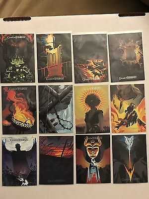2017 Game Of Thrones Season 6 BEAUTIFUL DEATH Poster Art   12 Card Lot