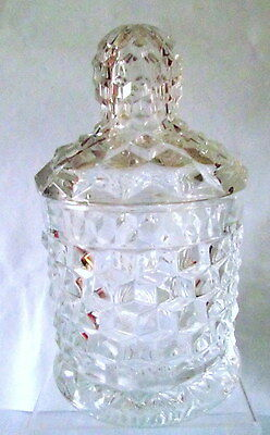 RARE Fostoria American Crushed  Fruit Jar # 213 10 Inches Tall With lid