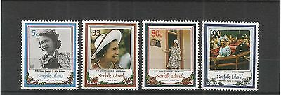 Norfolk Islands 1986 Queens 60Th Birthday Sg,389-392 U/mm Nh Lot 3916A