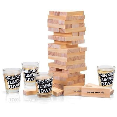 adult drinking game jenga shots glasses party hen do stag do dares FUN