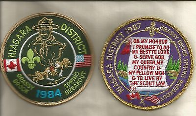 Two Scouts Canada Niagara District Grassy Brook Spring Breakout 1984 & 1987