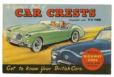 T.V FUN COMIC 1950s FREE GIFT CAR CRESTS BOOK
