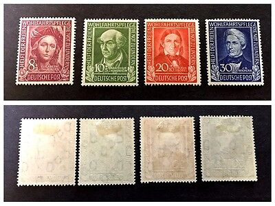 GERMANIA FEDERALE 1949 BENEFICENZA 1°a  SERIE COMPLETA MLH*