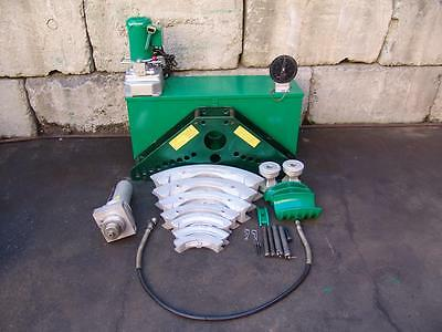 "Greenlee 885 Hydraulic Bender Rigid Imc 1 1/4 To 5"" And 960 Pump"