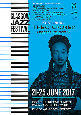 Glasgow Jazz Festival 2017 A3 Poster - Theo Croker