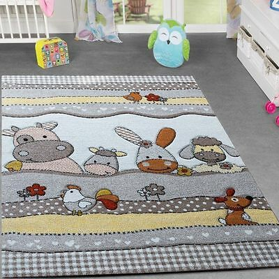 Childrens Rug Farm Animals Design Kids Bedroom Play Mats Carpet Small Large Size