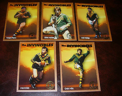 1994 RUGBY LEAGUE INVINCIBLES CARDS x 5