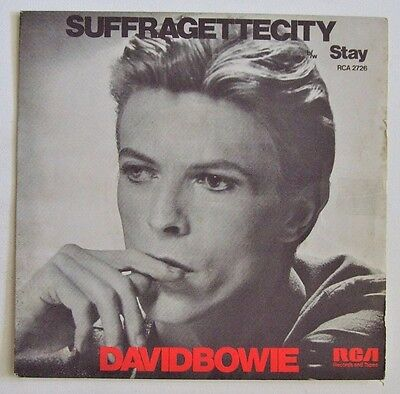 David Bowie - Suffragette City / Stay - 1976 RCA VICTOR (G+/EX)