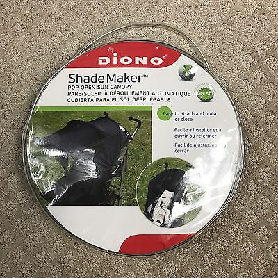 New in Package - Diono Shade Maker Pop Open Sun Canopy - Black