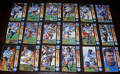 CANTERBURY BULLDOGS Full set of 18 Cards ~ 1994 Series 1 & 2~ Rugby League...