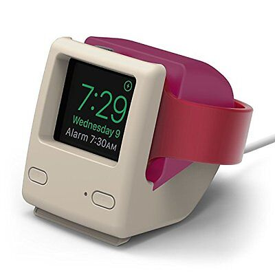 Elago W4 Stand Vintage Apple Monitor For Apple Watch 3,2,1 Charging Station Pink