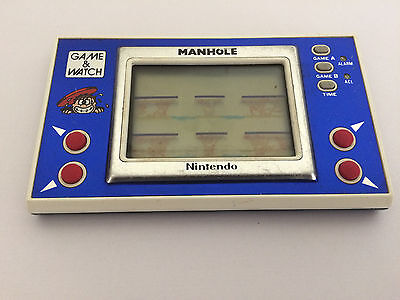 Nintendo Game And Watch Manhole Widescreen Nh-103 Vintage Handheld Game