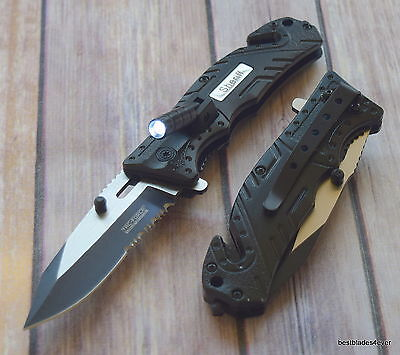 7.75 Inch Tac-Force Sheriff Spring Assisted Rescue Knife With Pocket Clip
