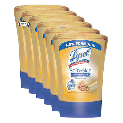 Lysol No-Touch Hand Soap Refill- Cocoa & Brown Sugar (251ml) (Pack of 6)