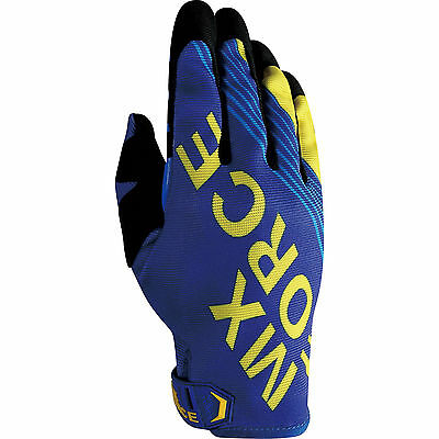 MX Force AC-X Maxix Blue Motocross Gloves MX Off Road Racing Sports Dirt Enduro