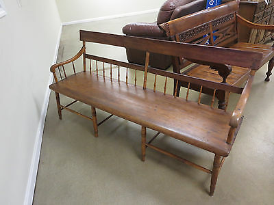 Antique Wood Farmhouse Bench