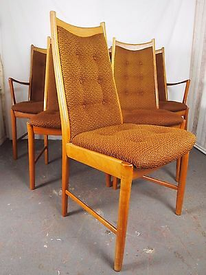 Vintage Retro Danish Teak Set of 6 Original Dining Chairs ~Delivery Available
