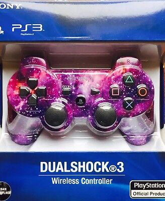 PS3 Wireless Dualshock Controller Pink Star Camouflage Free Delivery & USB Cable