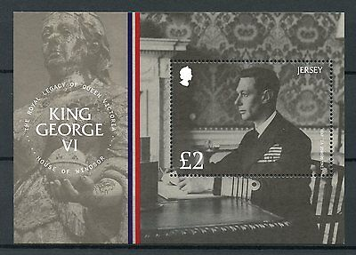 Jersey 2017 MNH King George VI House of Windsor 1v M/S Royalty Stamps
