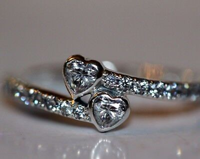 Genuine Silver S925 Forever Hearts Heart Ring Size 54 Valentines Day