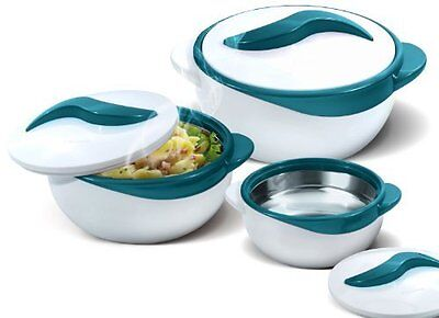 Pinnacle 3 Piece Thermo Dish Hot or Cold Casserole Serving Bowls with Lids