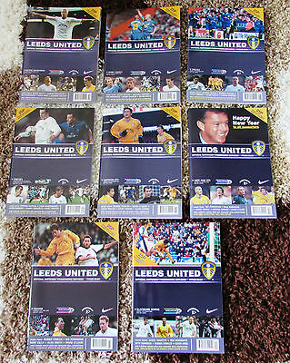 Collection of 8 Leeds United Home Programmes. 2001 - 2002 Season