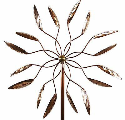 Stanwood Wind Sculpture Kinetic Copper Wind Sculpture Dual Spinner Spinning F...