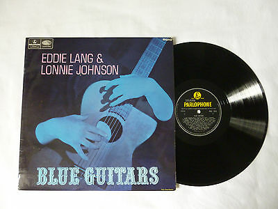BLUE GUITARS ~ EDDIE LANG & LONNIE JOHNSON ~ NrM/EX ~ 1967 UK MONO JAZZ VINYL LP