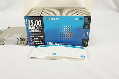 """Sony 50MFD-2HD 3.5"""" HD Micro Floppy Diskettes Double Sided"""